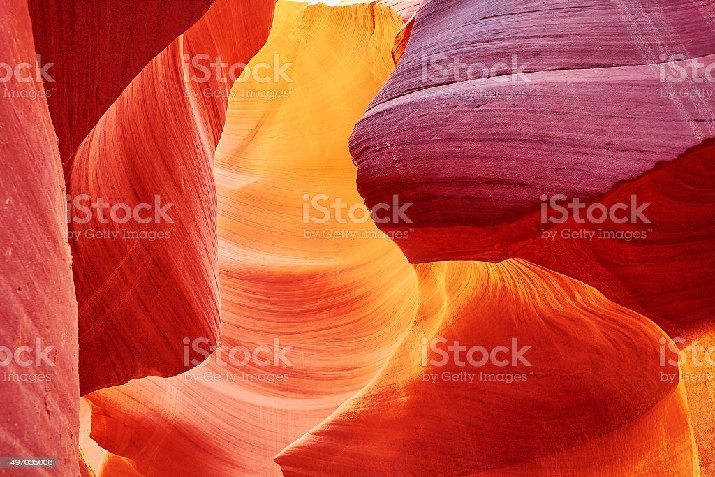 Lower Antelope Canyon, Arizona, USA stock photo
