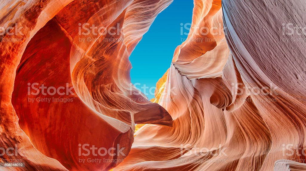 Lower Antelope Canyon, Arizona, USA stock photo