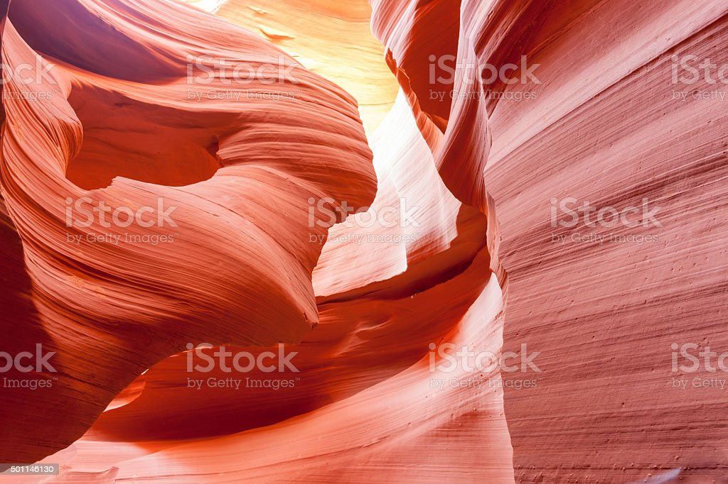Lower Antelope Canyon textures Page Arizona USA stock photo