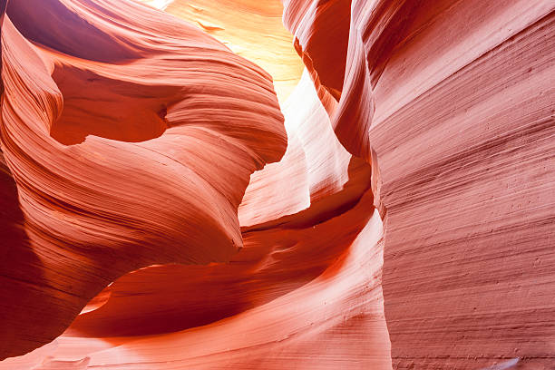 lower antelope canyon textures page arizona usa - lower antelope canyon stock photos and pictures
