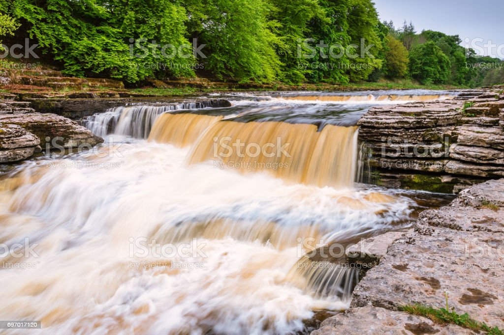 Lower Aysgarth Falls stock photo