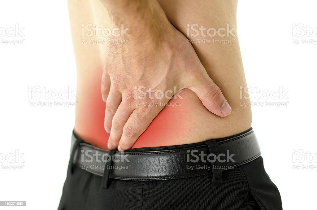 Lower back cramp royalty-free stock photo