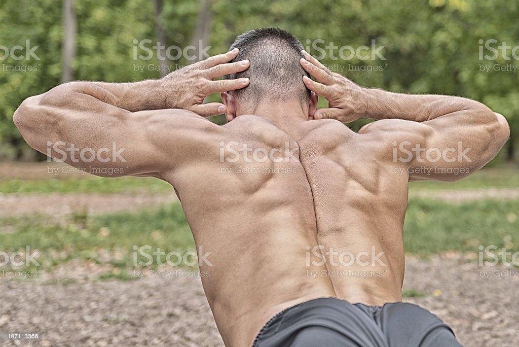Lower back exercise royalty-free stock photo