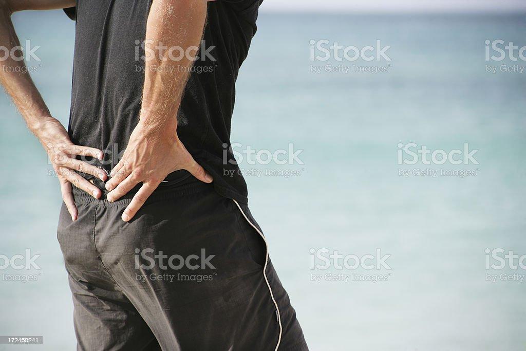 Lower back pain stock photo