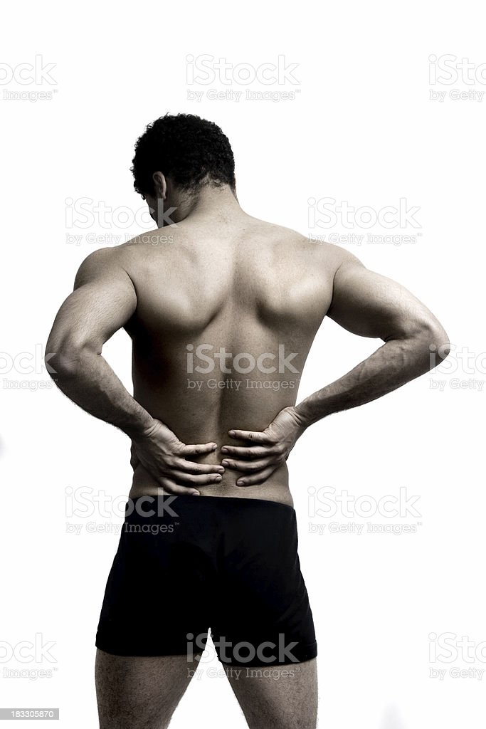 Lower back pain royalty-free stock photo