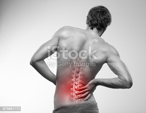 975681354 istock photo Lower back pain. 975681172