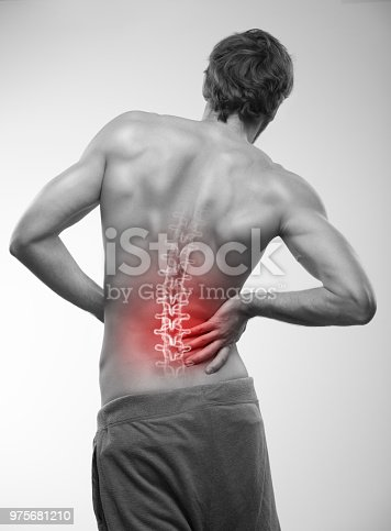 975681354 istock photo Lower back pain. 975681210