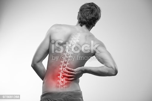 975681354 istock photo Lower back pain. 975681288