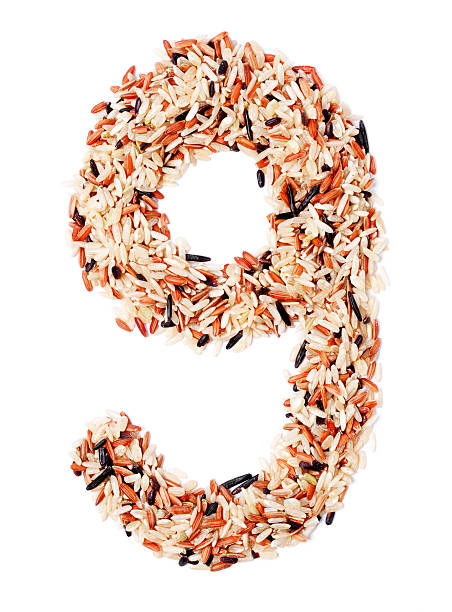 Lower Case Letter G made from Grains stock photo