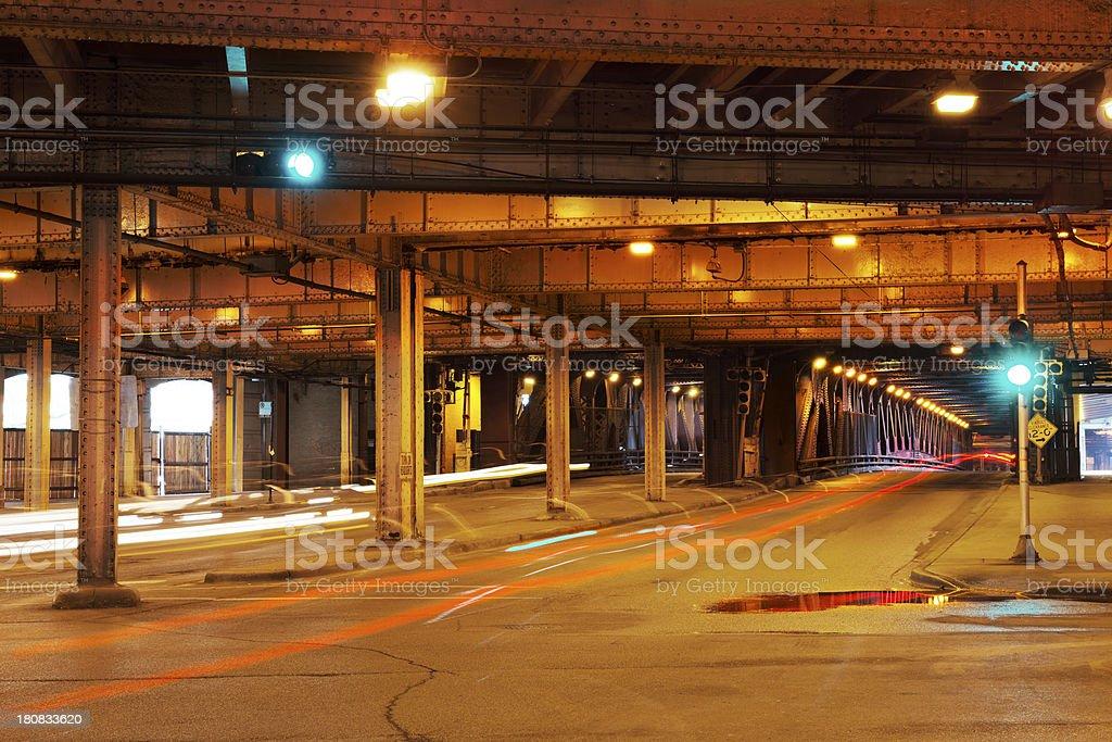 Lower Deck, Michigan Avenue Bridge, Chicago stock photo