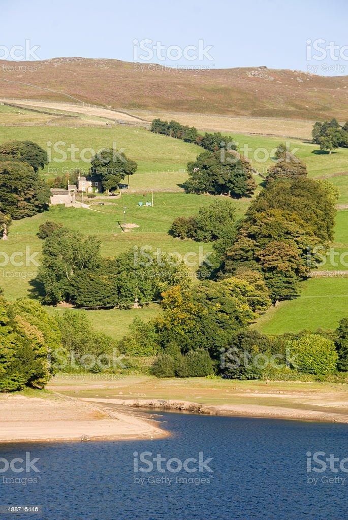 Lower Derwent reservoir, Peak District UK stock photo
