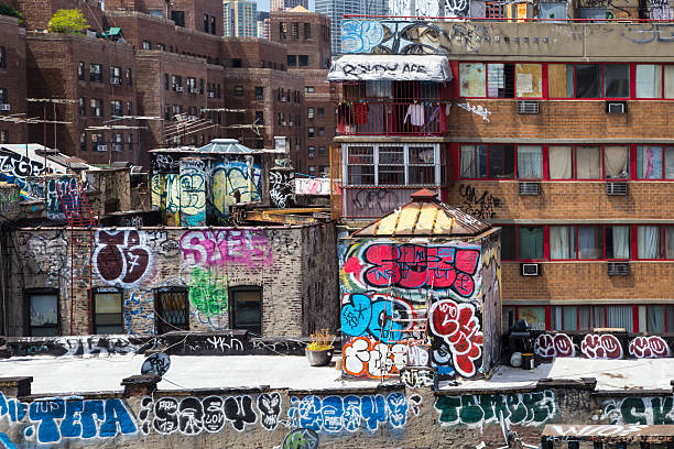 lower east side nyc - lower east side manhattan stock pictures, royalty-free photos & images