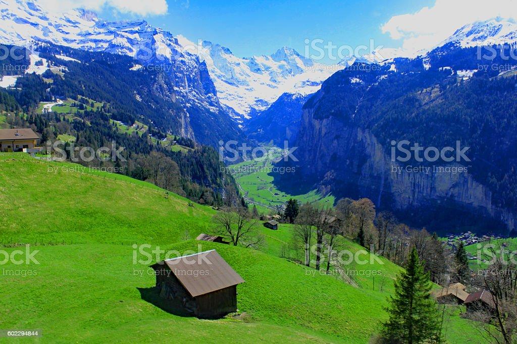 Lower elevations, Jungfraujoch, Switzerland stock photo