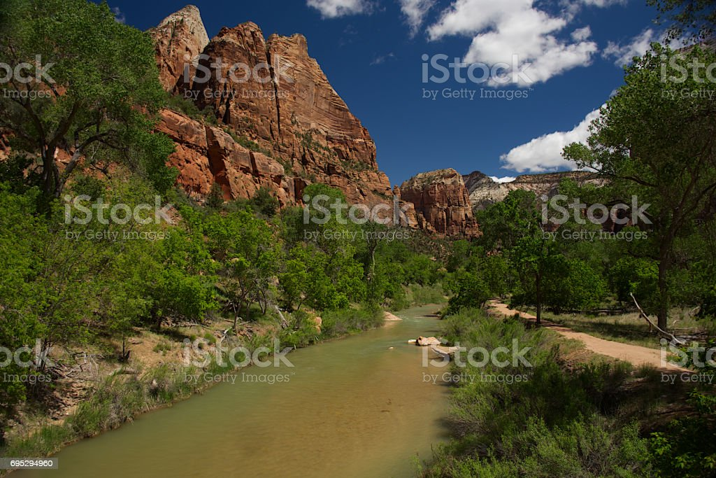 Lower Emerald Pool Trail A stock photo