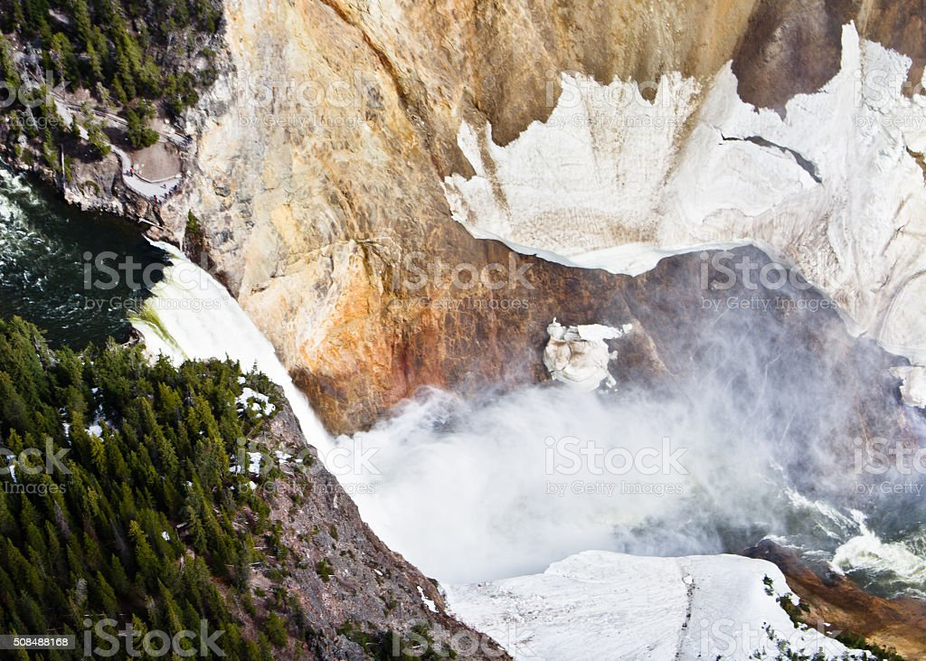 Lower Falls from above stock photo