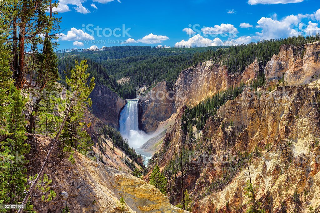 Lower Falls, Grand Canyon of the Yellowstone stock photo