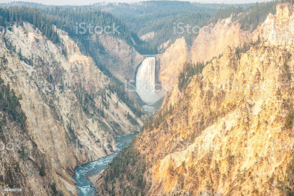 Lower Falls, Grand Canyon of Yellowstone River stock photo