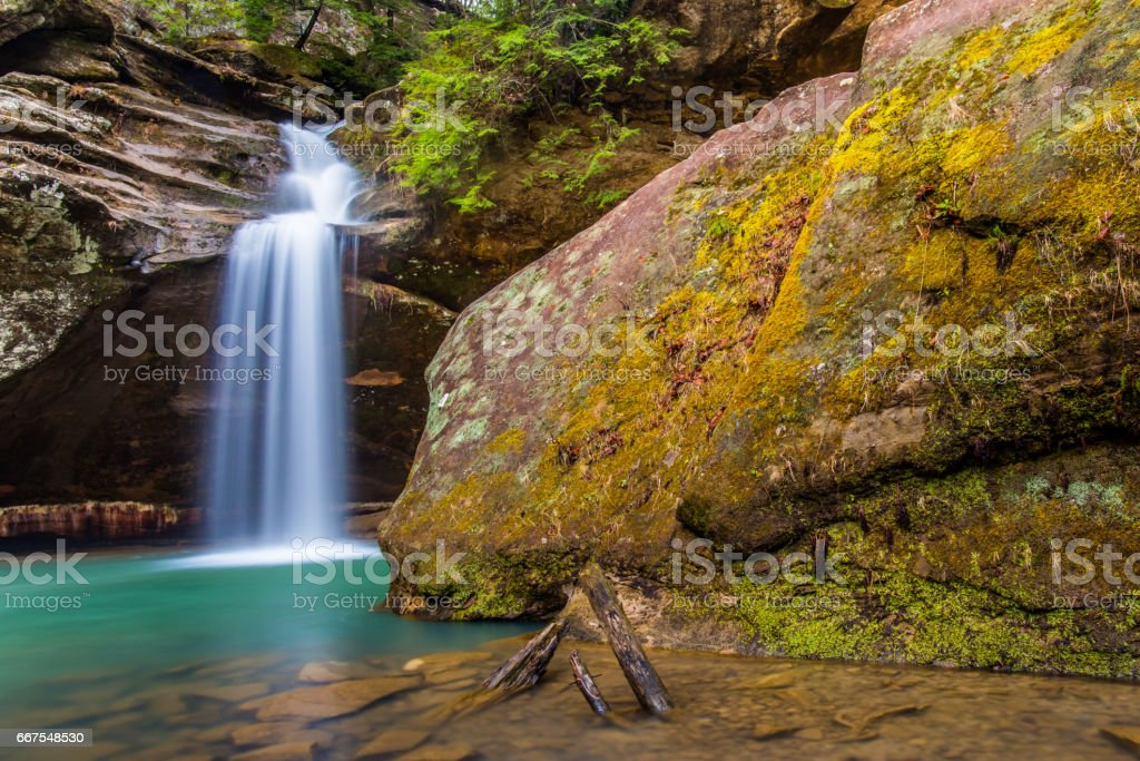 Lower Falls in Hocking Hills State Park in Ohio stock photo