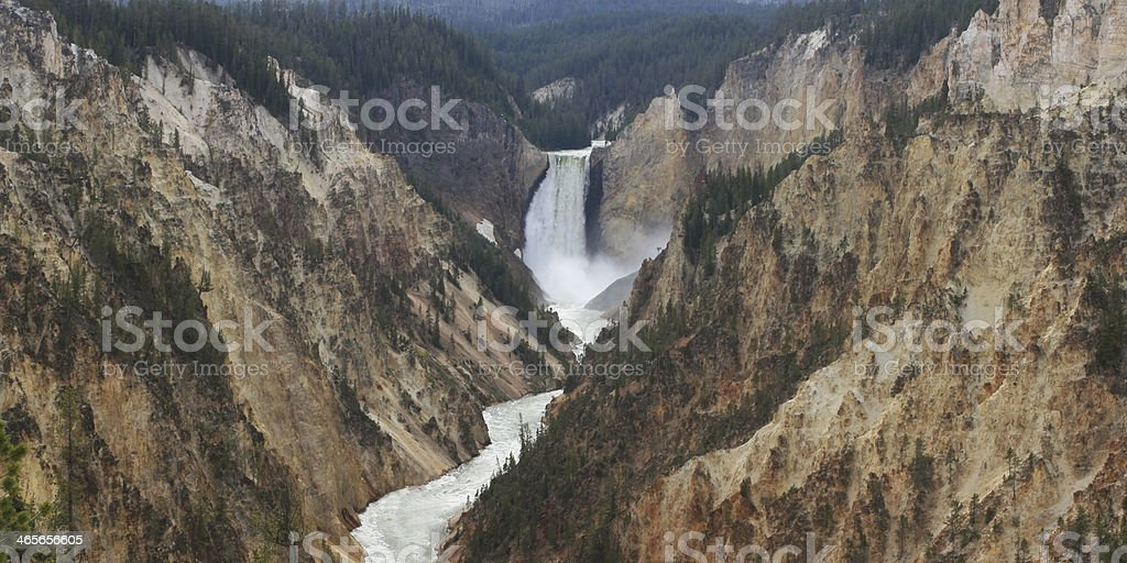 Lower Falls in the Grand Canyon of Yellowstone stock photo