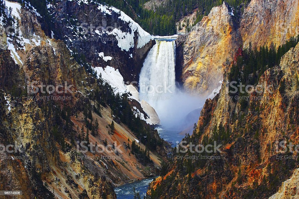 Lower Falls of the Yellowstone royalty-free stock photo