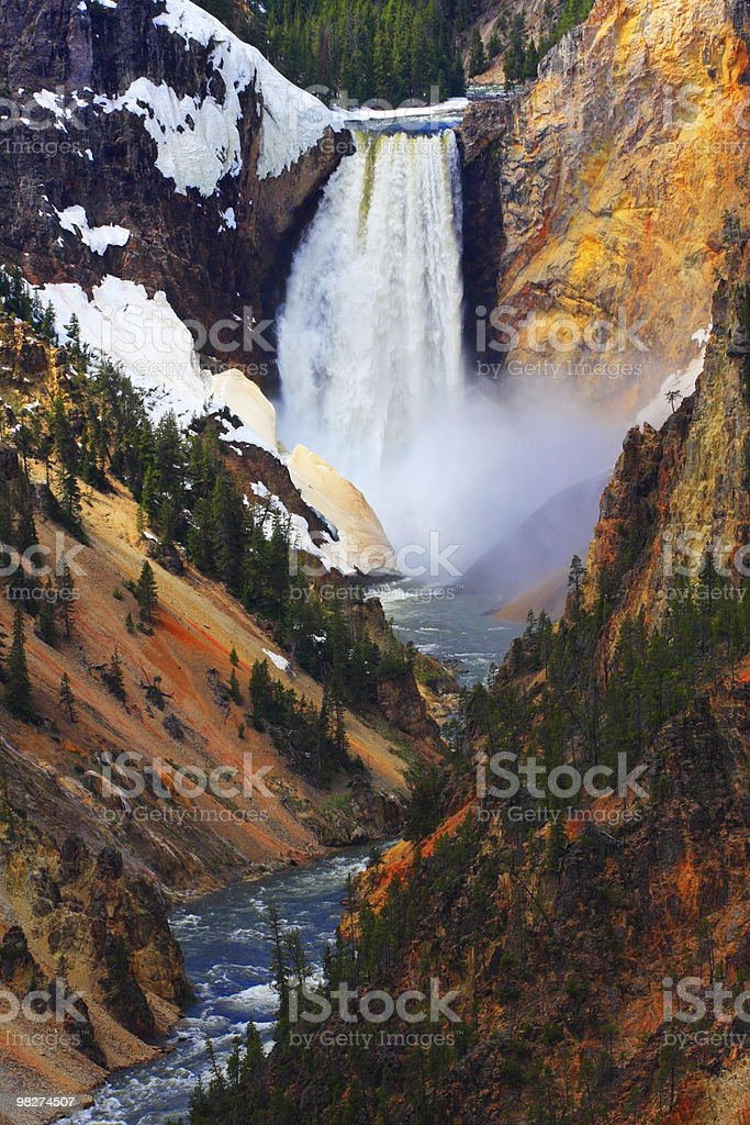 Lower Falls of the Yellowstone, Vertical royalty-free stock photo