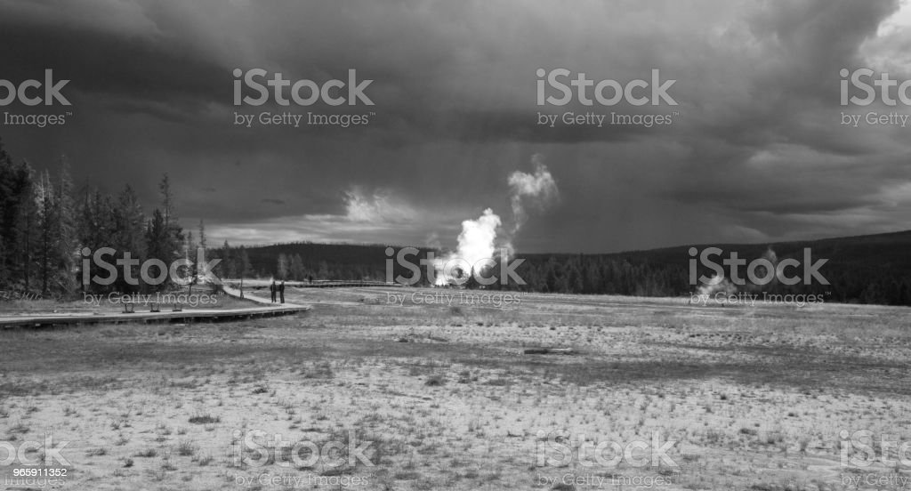 Lower Geyser Basin in Yellowstone National Park - Royalty-free Ash Stock Photo