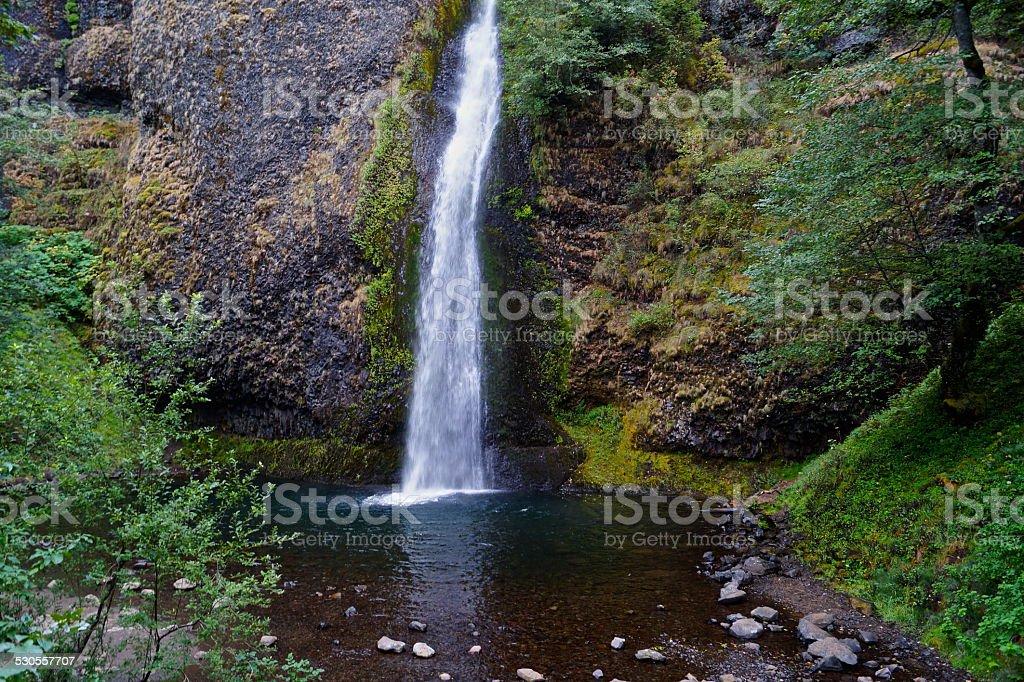 Lower Horsetail Falls stock photo