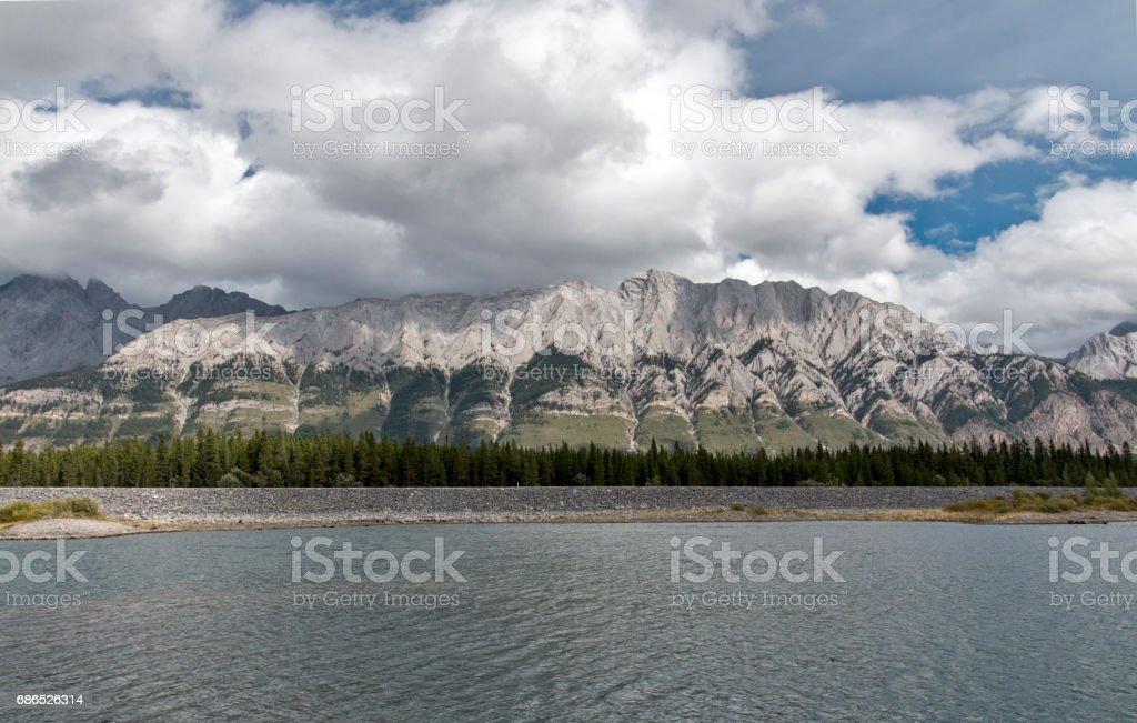 Lower Kananaskis lake zbiór zdjęć royalty-free