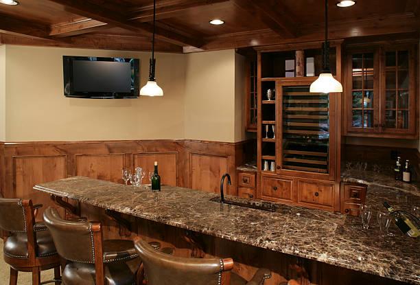 Lower level bar. stock photo