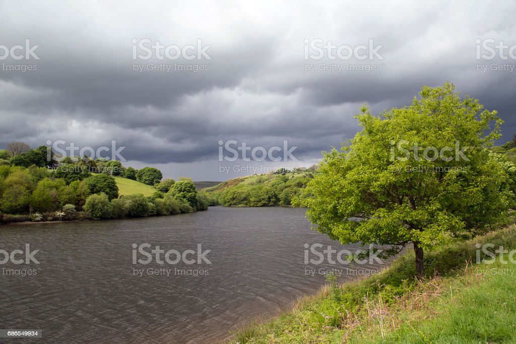 Lagere Lliw Valley Reservoir royalty free stockfoto