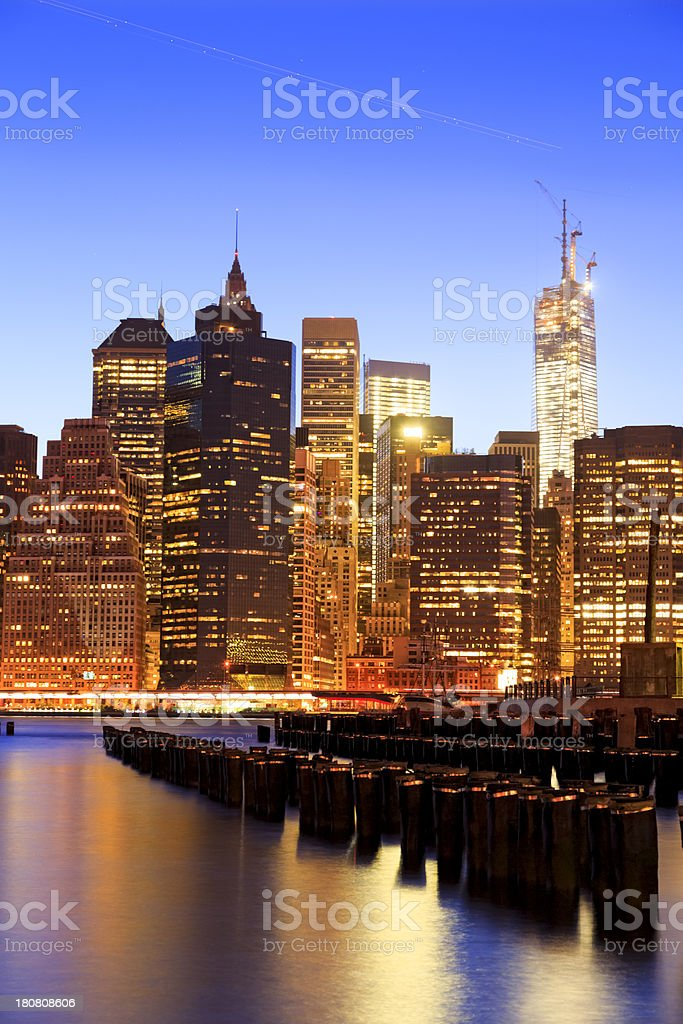Lower Manhattan and Freedom Tower royalty-free stock photo
