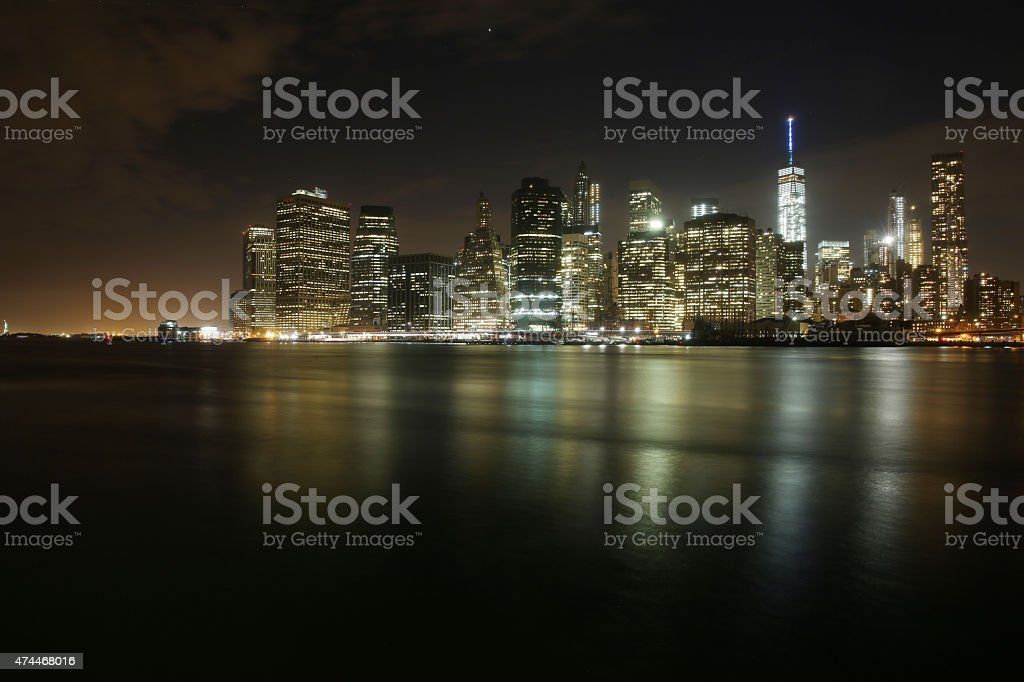 Lower Manhattan and World Trade Center stock photo