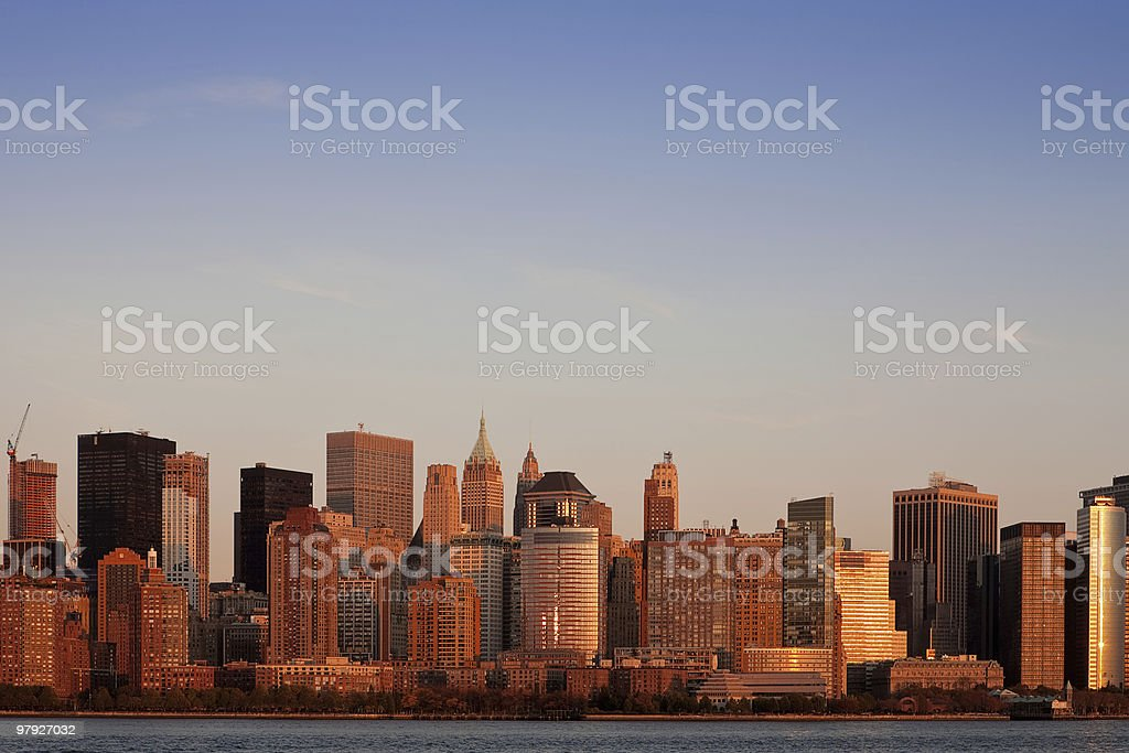 Lower Manhattan At Sunset royalty-free stock photo