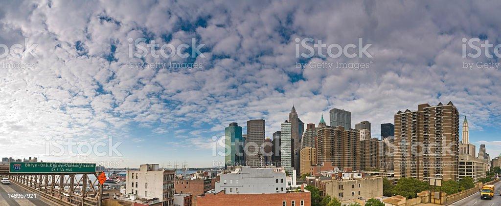 Lower Manhattan Brooklyn big sky royalty-free stock photo