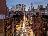 istock Lower Manhattan cityscape - Chinatown, NYC, USA 1055556936