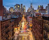 istock Lower Manhattan cityscape - Chinatown, NYC, USA 1058354862