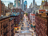 istock Lower Manhattan cityscape - Chinatown, NYC, USA 1058737766