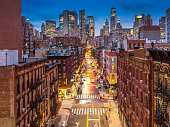 istock Lower Manhattan cityscape - Chinatown, NYC, USA 1064179068