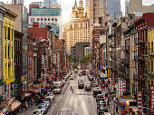 istock Lower Manhattan cityscape - Chinatown, NYC, USA 1076737078