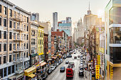istock Lower Manhattan cityscape - Chinatown 909181318