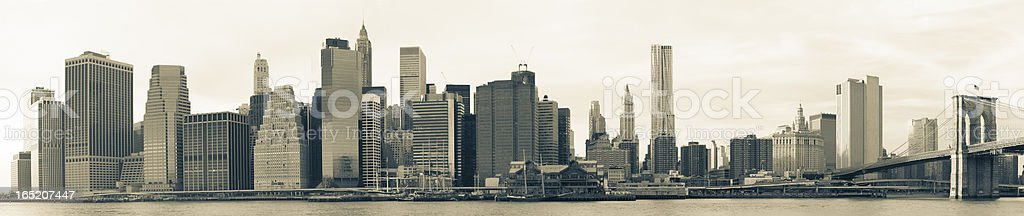 Lower Manhattan skyline panorama – Foto