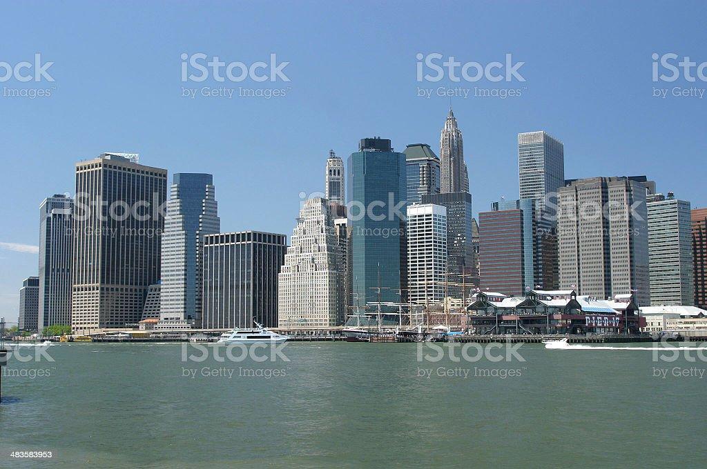 Lower Manhattan Skyline royalty-free stock photo