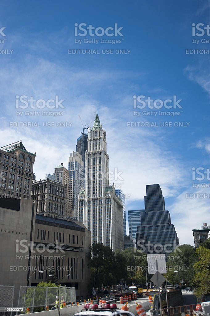Lower Manhattan view royalty-free stock photo