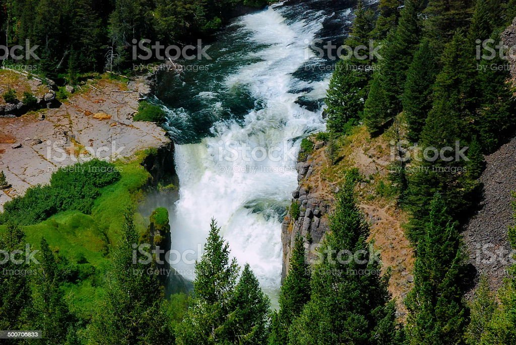 Lower Mesa Falls stock photo