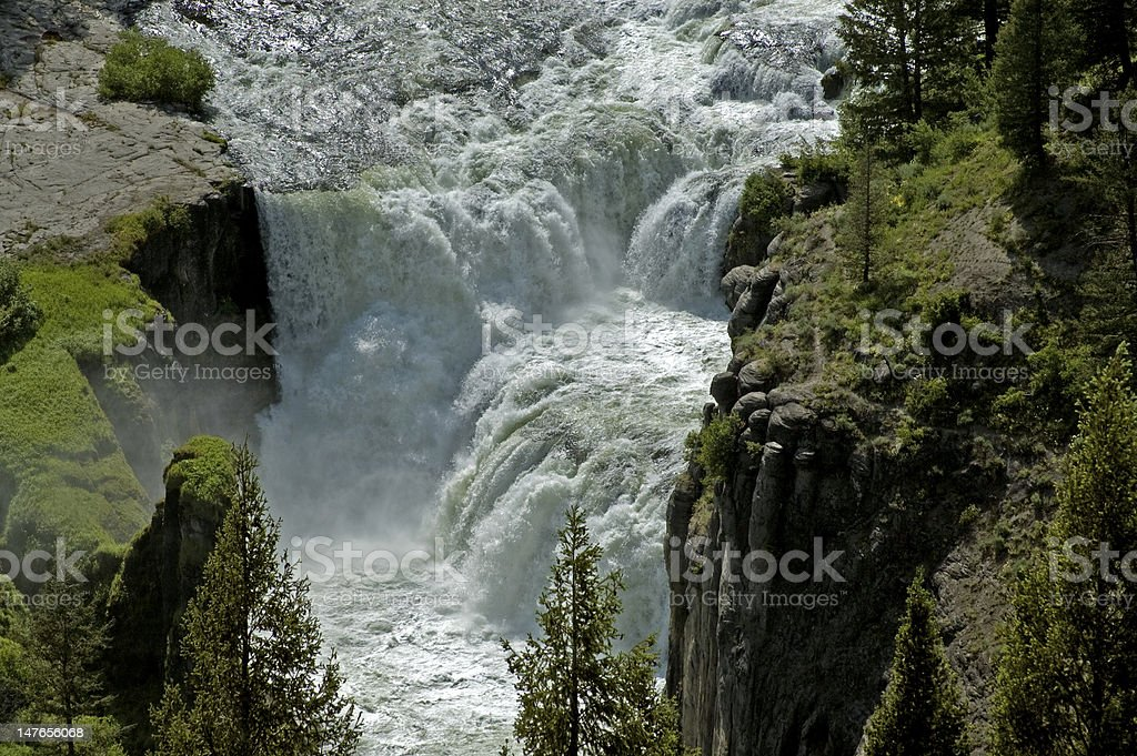 Lower Mesa Falls,South Eastern Idaho, USA stock photo