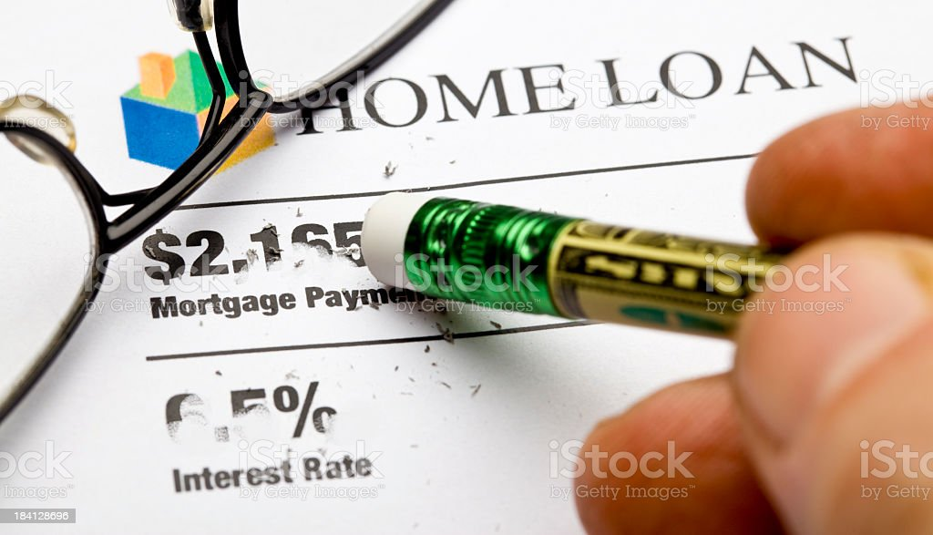 Lower Mortgage royalty-free stock photo
