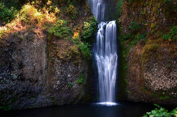 Lower Multnomah Falls, Columbia River Gorge, Oregon stock photo