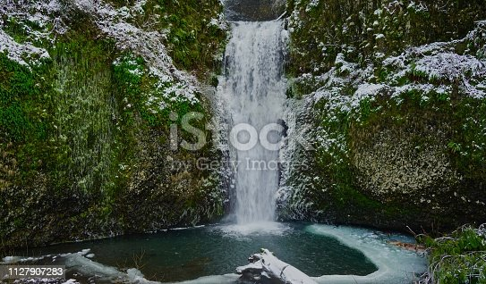 Northwest Oregon's Columbia Gorge. Lower Multnomah Creek In February.