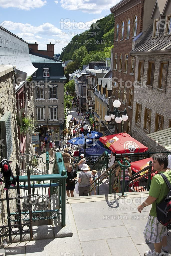 Lower old Quebec city stock photo