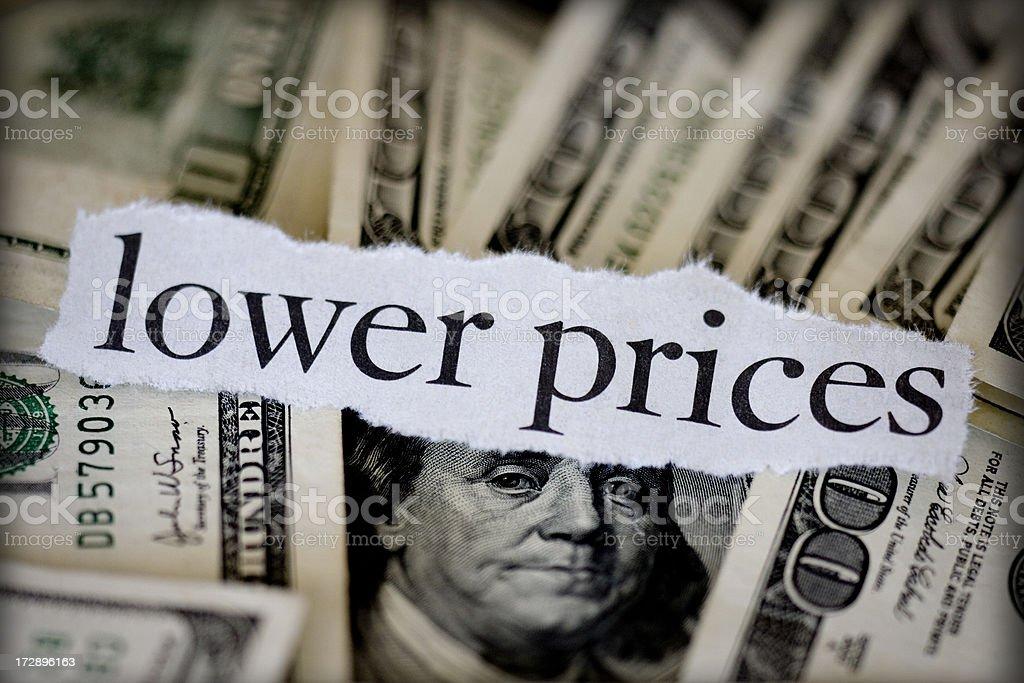 lower prices stock photo